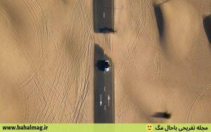 تصاویر جاده های بیابانی