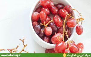 ظرف انگور قرمز