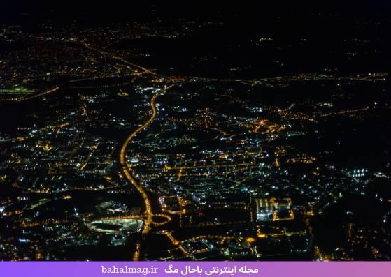 عکس زیبا از شهر تفلیس در شب