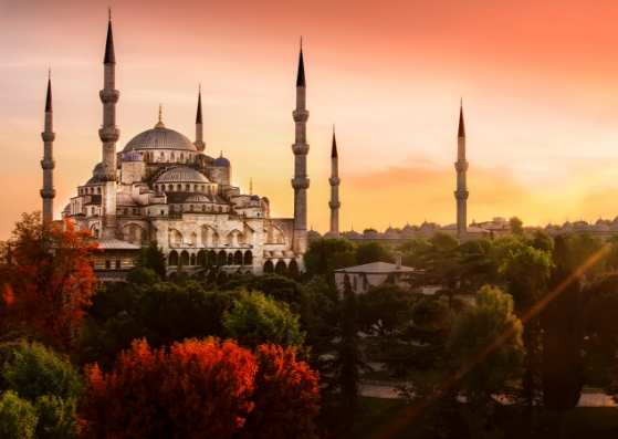 غروب افتاب در استانبول ترکیه