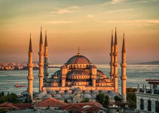 نمای بسیار زیبا از غروب آفتاب در ترکیه