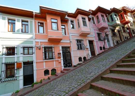 نمای زیبا از خانه در استانبول