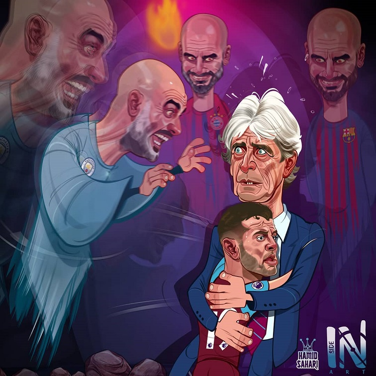 کاریکاتور گواردیولا ترسناک