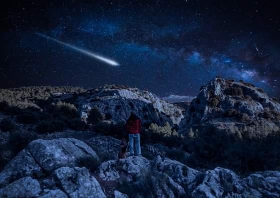 کوهستان در شب