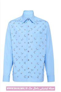 جدیدترین طرح پیراهن مردانه آبی رنگ
