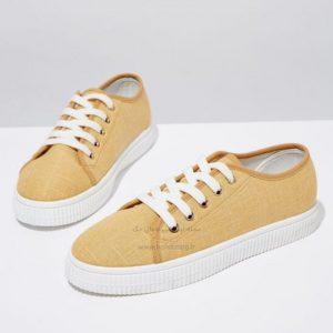 طرح کفش اسپرت زنانه زرد