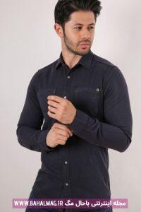 مدل جدید پیراهن تیره مردانه