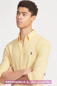 مدل جدید پیراهن مردانه آجری رنگ