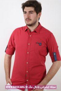 مدل جدید پیراهن مردانه قرمز