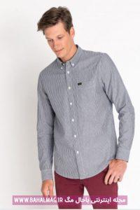 پیراهن جدید خاکستری مردانه