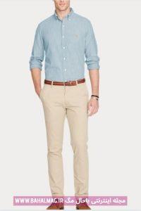 پیراهن جدید مردانه آبی رنگ