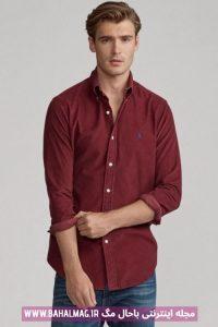 پیراهن جدید مردانه زرشکی
