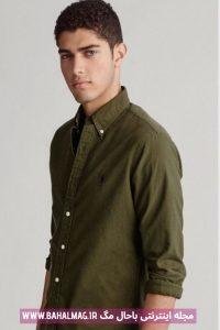 پیراهن جدید مردانه سبز رنگ