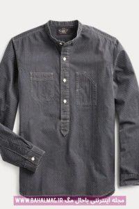 پیراهن خاکستری جدید مردانه