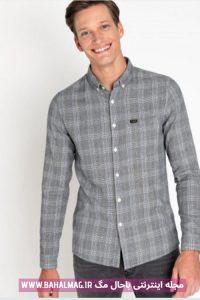 پیراهن خاکستری مدل جدید