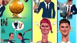 کاریکاتور حمید سحری به مناسب جایزه د بست
