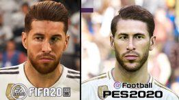 مقایسه چهره بازیکنان رئال مادرید در بازی FIFA 20 و PES 20