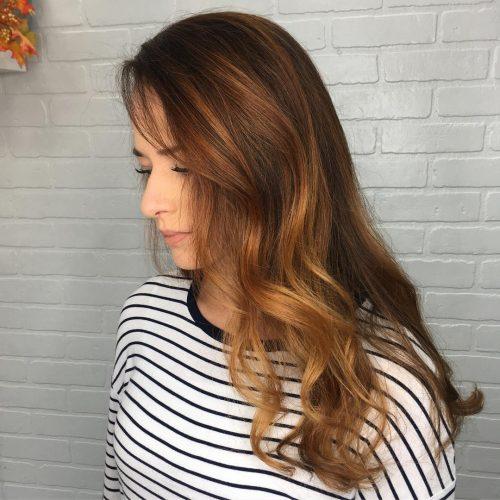 جدید ترین مدل رنگ موی قهوه ای روشن با هایلایت