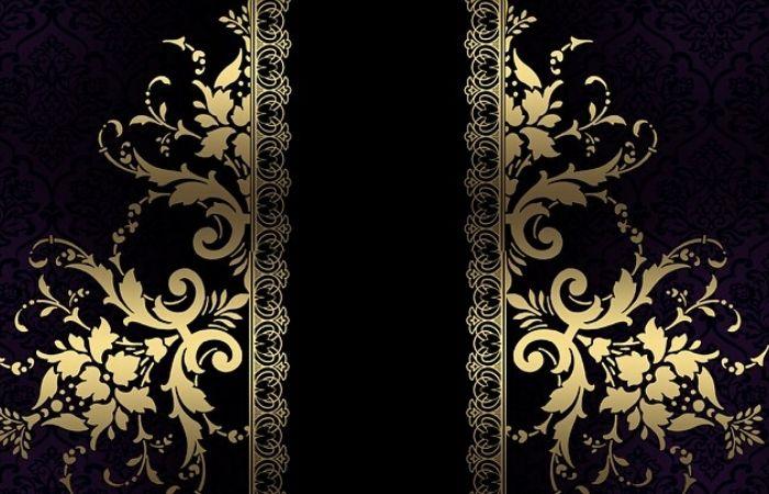 حاشیه های طلایی با هم