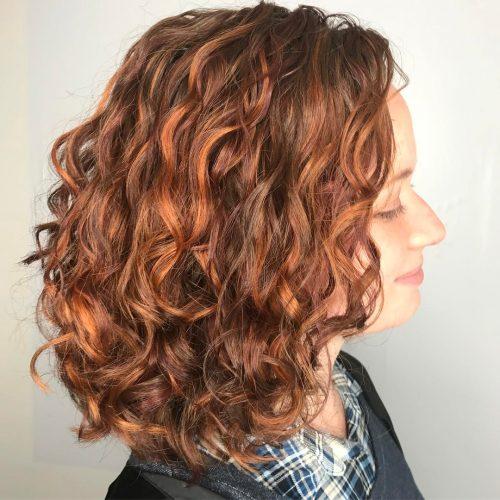 رنگ موی قهوه ای روشن با هایلایت لاکچری