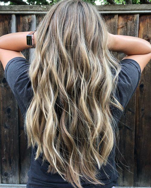 رنگ موی قهوه ای روشن با هایلایت 2020