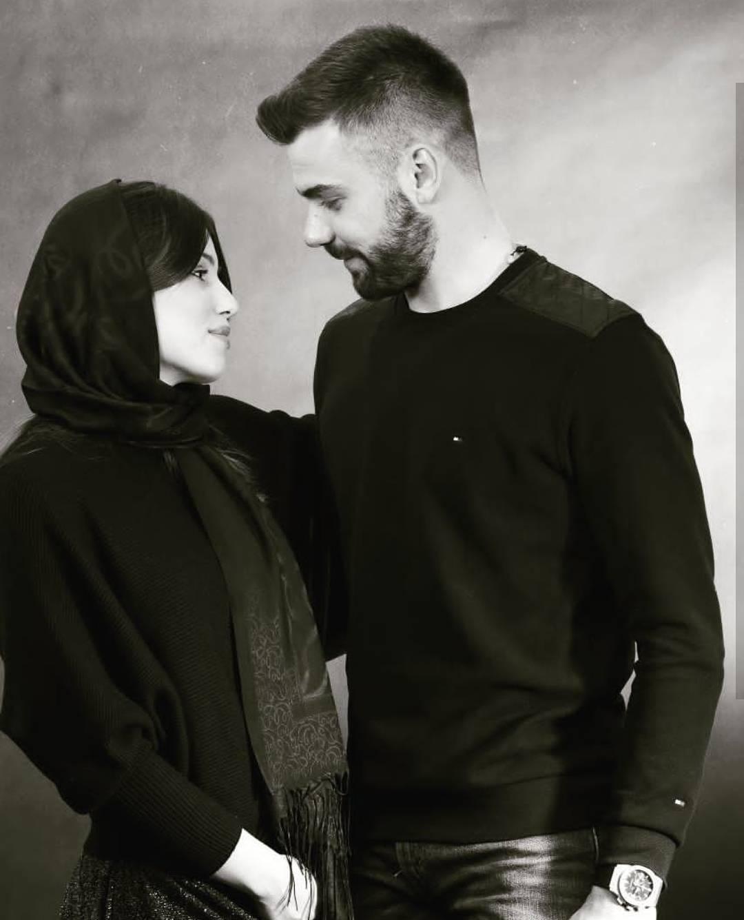 عکس سیاه و سفید بوژیدار رادوشوویچ و همسرش