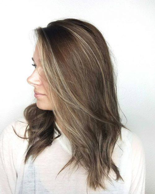 متفاوت ترین رنگ موی قهوه ای روشن با هایلایت