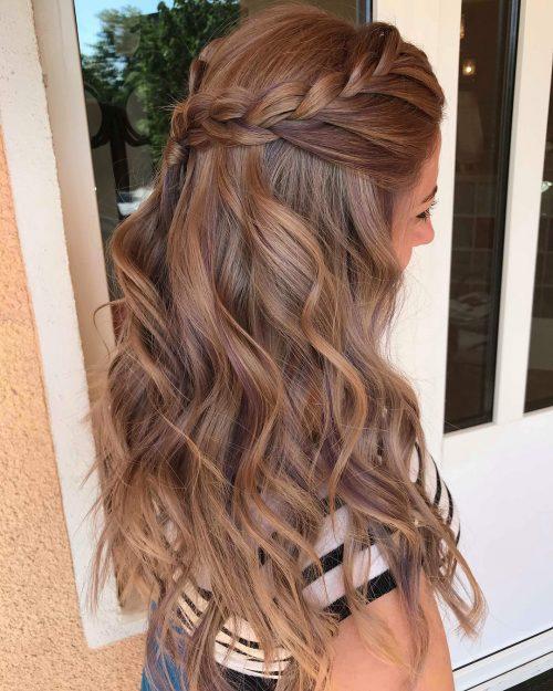 مدل خاص رنگ موی قهوه ای روشن با هایلایت