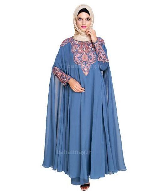 مدل مانتو آبی جذاب و زیبا