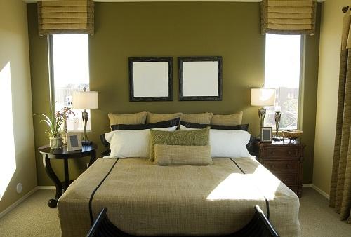 اتاق خواب با رنگ سبز دیدنی