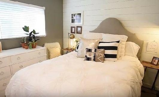 اتاق خواب با رنگ ملایم