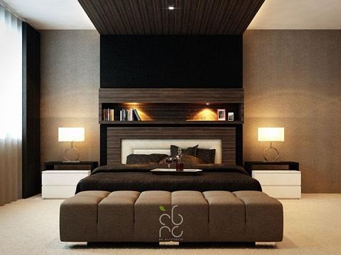 اتاق خواب مدرن و مجهز و زیبا