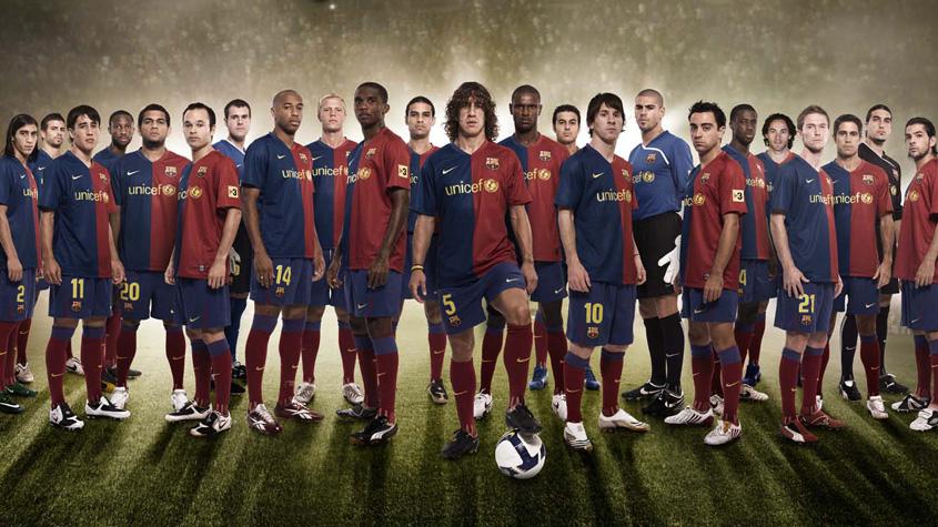 بازیکنان بارسلونا در ترکیب سال 2009