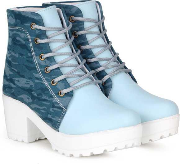 بوت خاص نظامی زنانه آبی رنگ