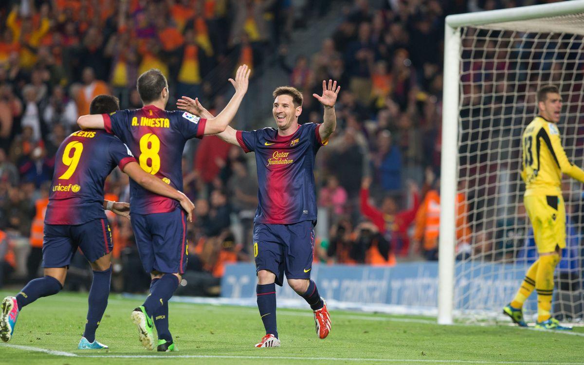 شادی پس از گل بارسلونا 2012
