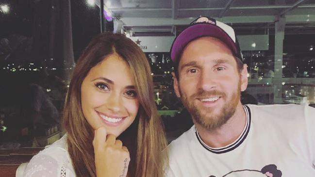 عکس دوتایی مسی و همسرش
