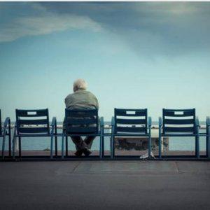 عکس پروفایل تنهایی پیرمرد