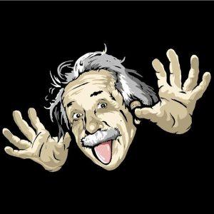 عکس پروفایل خنده دار انیشتین
