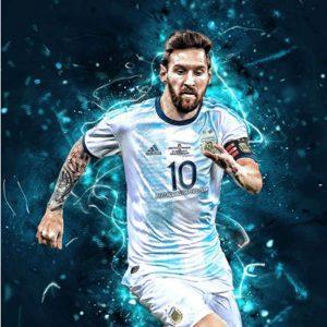 عکس پروفایل لیونل مسی با لباس آرژانتین