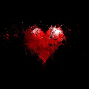 عکس پروفایل مشکی قلب