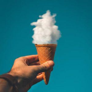 عکس پروفایل مفهومی ابر و بستنی