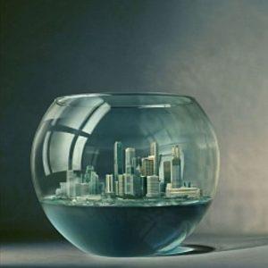 عکس پروفایل مفهومی شهر در تنگ