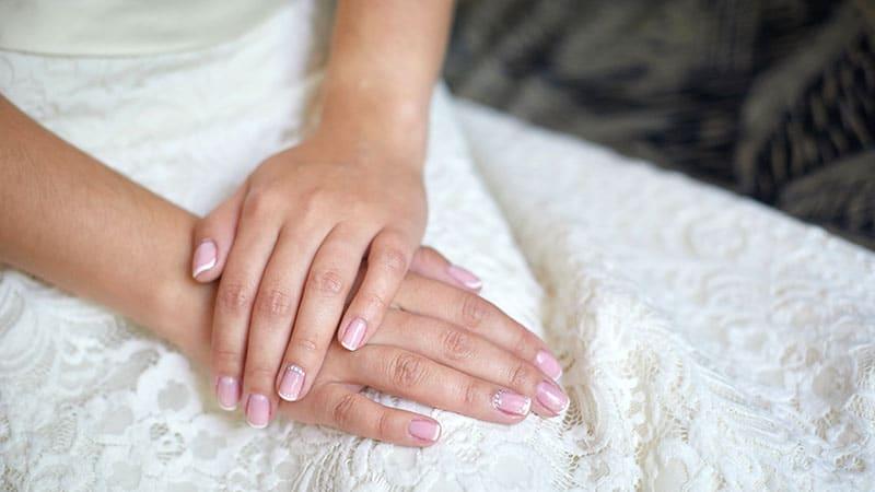 مدل ناخن شفاف عروس