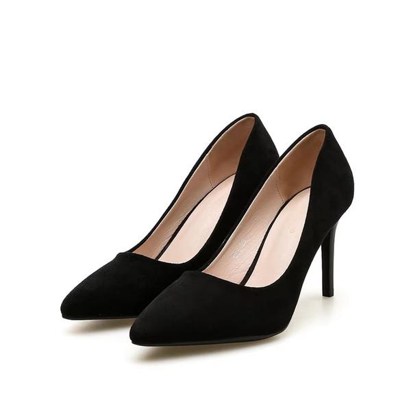 مدل های دیدنی از کفش های مشکی با پاشنه بلند زنانه اداری