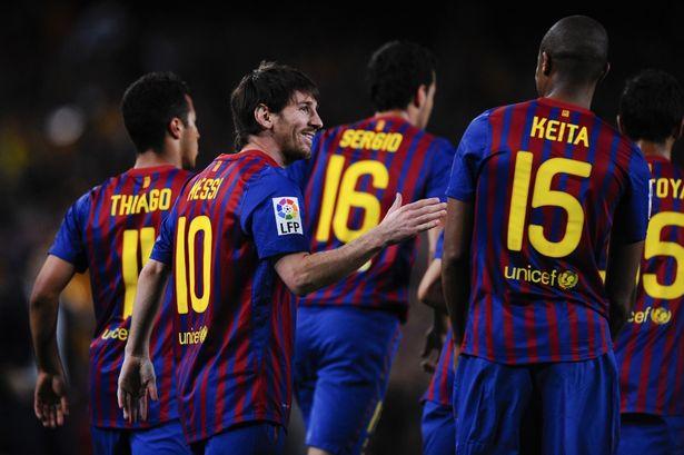 بارسلونا با کیت مشکی 2011
