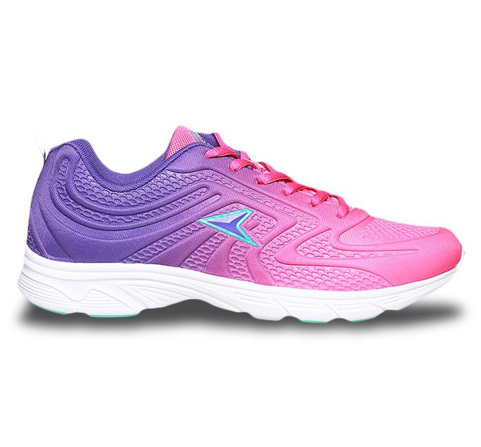 کفش اسپرت صورتی رنگ با ترکیب بنفش