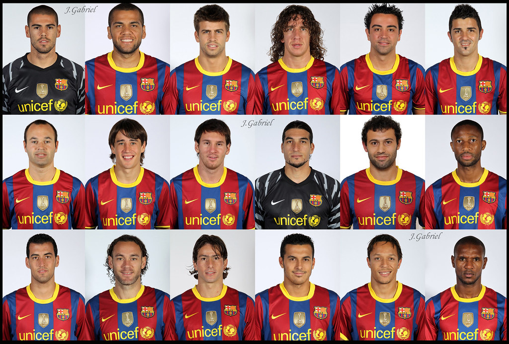کلیه ی بازیکنان بارسال در فصل 2010 و 2011
