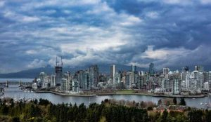 آسمان شهر ونکوور کانادا