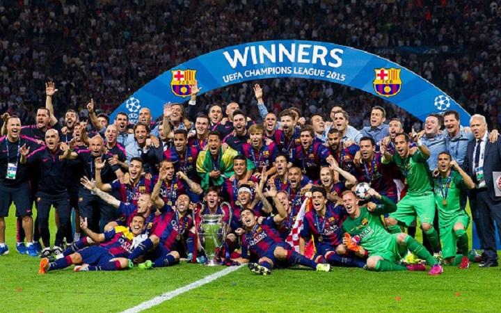 جشن قهرمانی خاص و دیدنی بارسا در فینال اروپا 2014