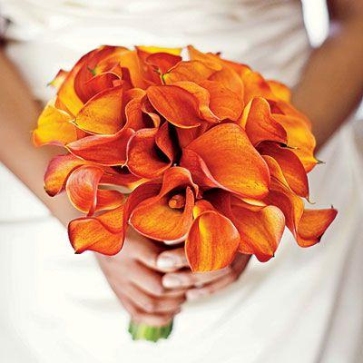 دسته گل شیک نارنجی 2020 شیک